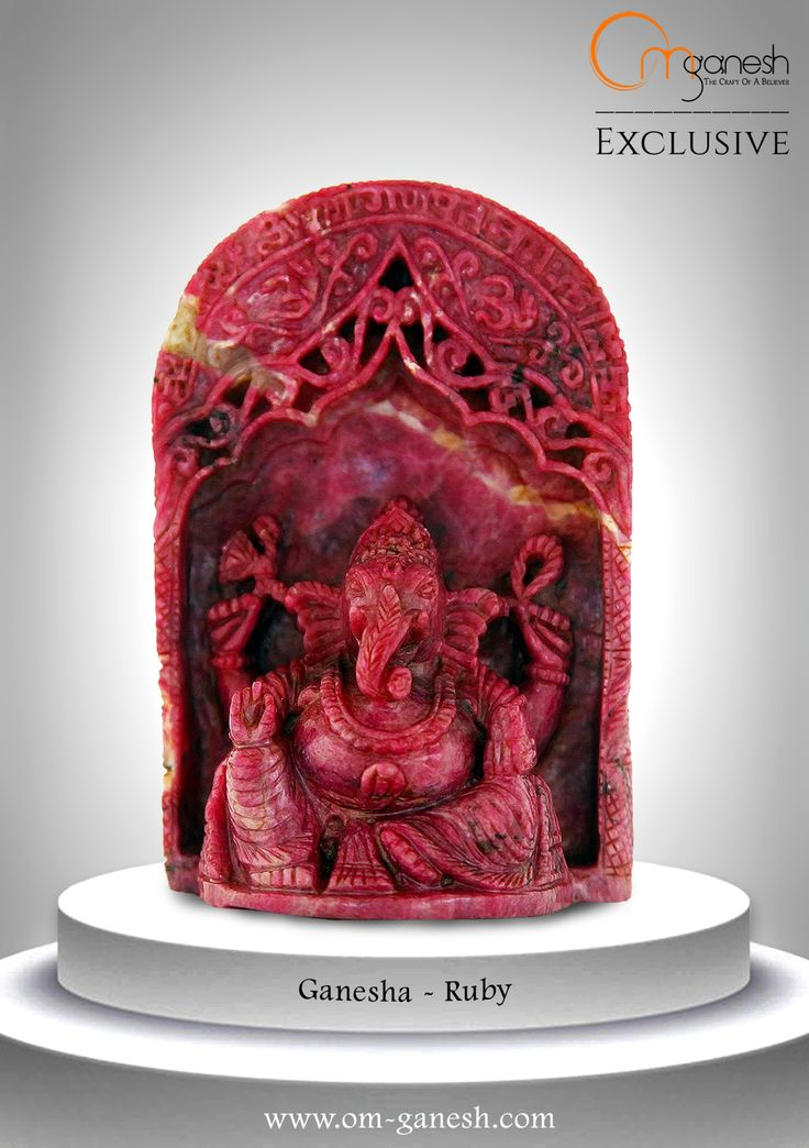 Evoke nobility and virtue in your home and your life with this Ruby idol of the majestic Lord Ganesha.#Evoke #Novality #Virtue #Home #Life #Ruby #Idol #Majestic #Idol #Ganesha #Auspicious #OmGaneshCrafts