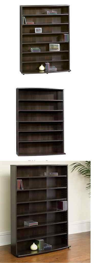 Media Cases and Storage: Multimedia Storage Rack Cd Dvd Media Tower Organizer Shelf Adjustable Shelves BUY IT NOW ONLY: $60.66