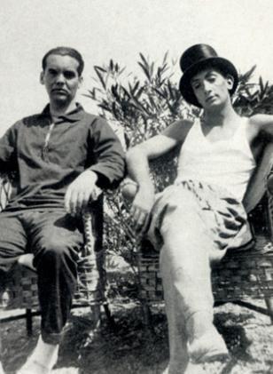Federico García Lorca y Salvador Dalí