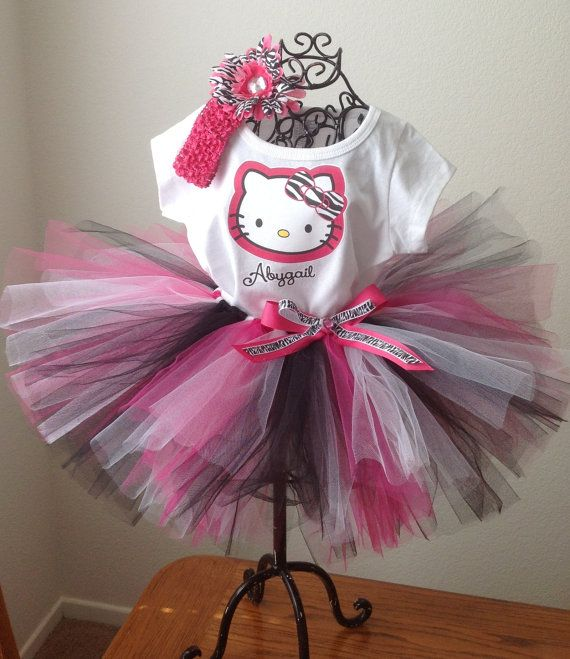 Hey, I found this really awesome Etsy listing at https://www.etsy.com/listing/128276673/hello-kitty-zebra-tutu-outfit-toddler