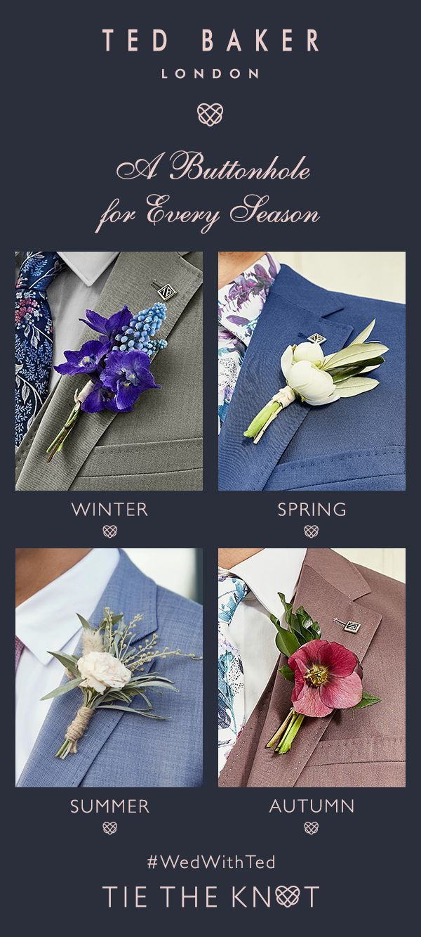 WEAR WITH FLAIR: Get inspired by Ted's seasonal boutonnières