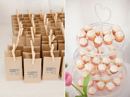 One of our clients was featured on polka dot bride! We had the custom stamp covered so they could DIY these cute little favours.