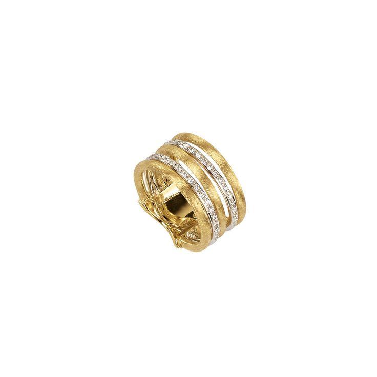 18K Gold & Diamond Five Row Ring