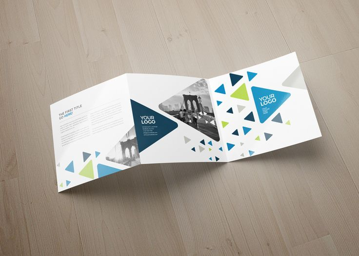 Square Cool Triangles Trifold on Behance