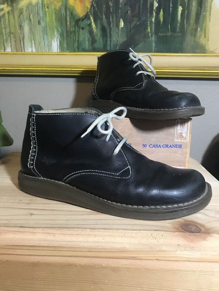 Dr. Martens DM'S Black Leather Chukka Boots Lace Up Air Wair 9.5 Shoes Mens  | eBay