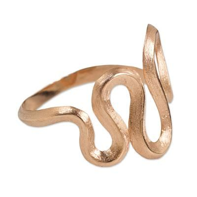 Cocktail Ring Crafted in 24k Rose Gold Plated Silver