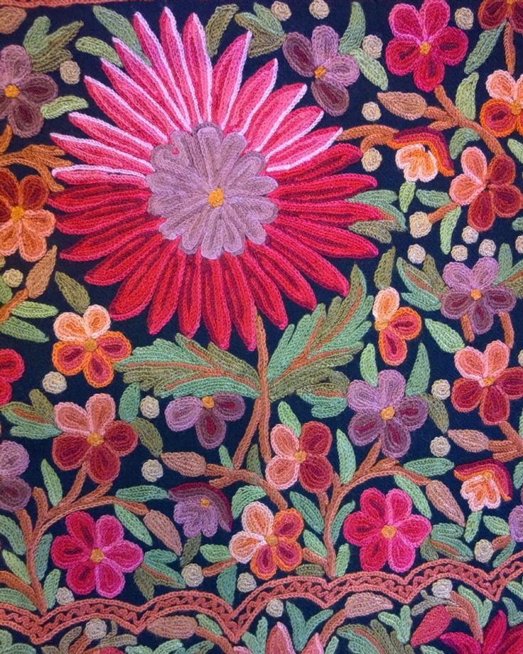 Kashmiri Embroidery. Srinagar.
