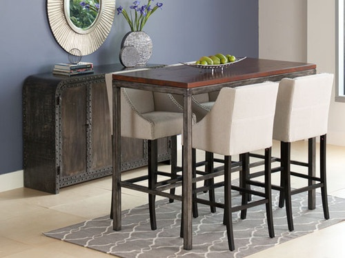 Hamina Pub Table - eclectic - bar tables - - by Dania Furniture