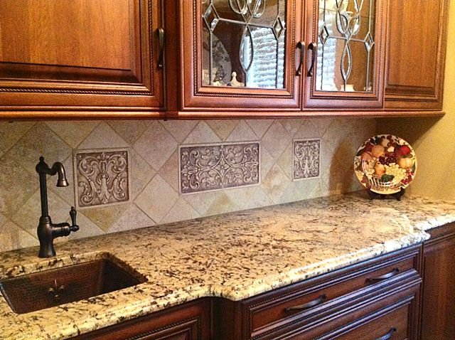 Decorative Tile Inserts Kitchen Backsplash 16 Best Relief Tile Murals For Your Kitchen Backsplash Images On