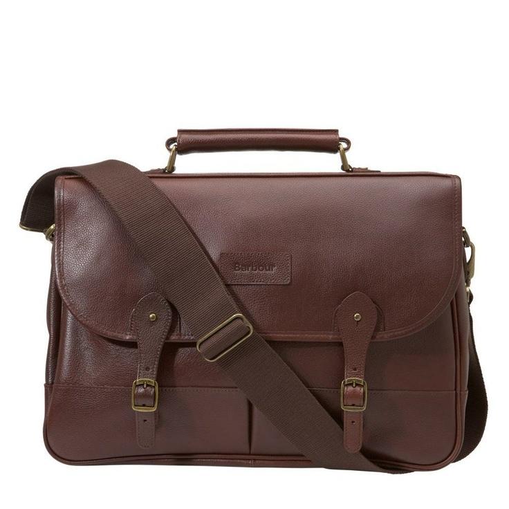 Barbour | Leather Dark Brown Briefcase UBA0011BR71