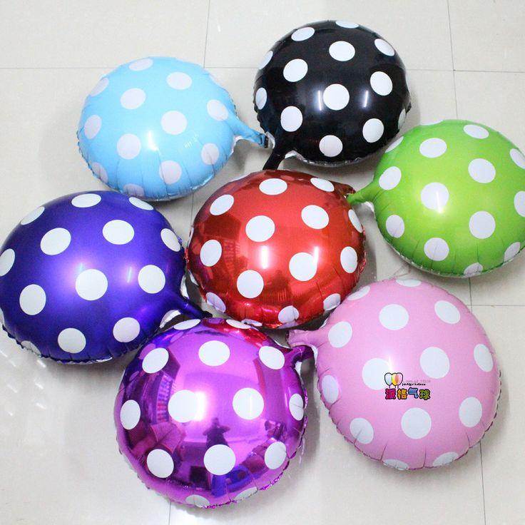Wholesales100pcs18inch большой горошек фольга шар свадьба день рождения ну вечеринку украшения майларовую воздушный шар ну вечеринку воздух globos