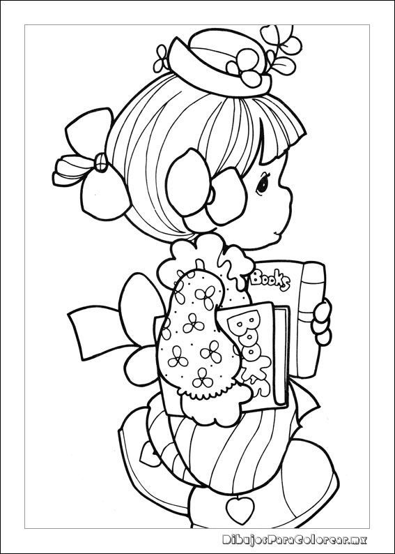 Precious Moments 33 Coloring Page For Kids And Adults From Cartoons Pages