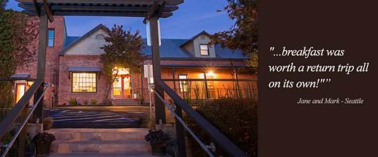 Hanford House Inn in Amador County ~ they deliver freshly baked scones to your door in the morning! Hotel-like amenities, including a spa... :)