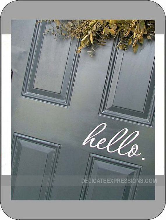 Front Foyer Quotes : Hello front door decal vinyl lettering greeting