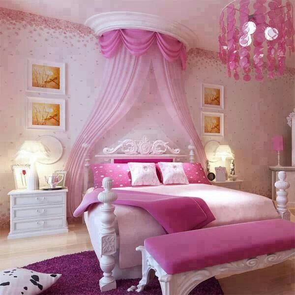 Pink Girly Bedroom Accessories: Blemish Light Girly Pink