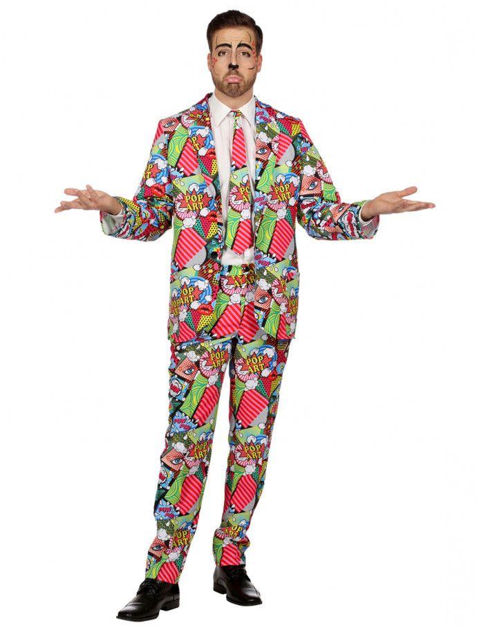 Anzug Comic Herren 3-tlg. für Karneval   Fasching » Deiters  comic  anzug   bunt  popart  Herren  Mann  men  kostüm  Kostüm…  5b86c19ee87ab