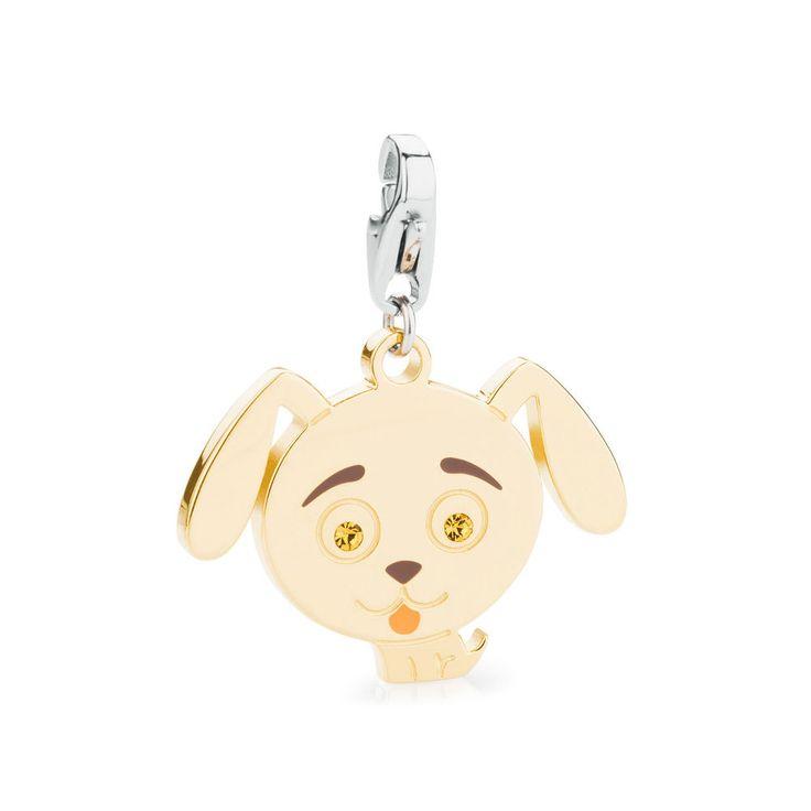 S Agapò Happy Ciondolo cagnolino cane in acciaio SHA106 GioielliVarlotta