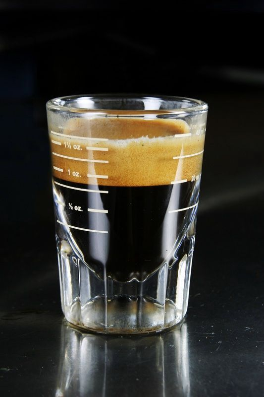 A shot with the most gorgeous crema.