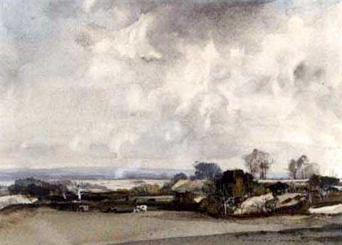 Open landscape by Rowland Hilder