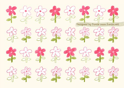 illustration, drawing, print, flower textile pattern surfacedesign by Funsa 텍스타일, 패턴, 일러스트, 드로잉, 펀사