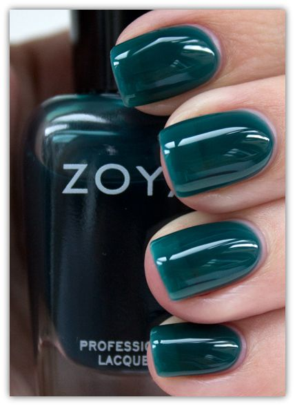 I'm not a huge fan of green nails, but this is lovely, if apparently a little thin - Zoya Frida Nail Polish