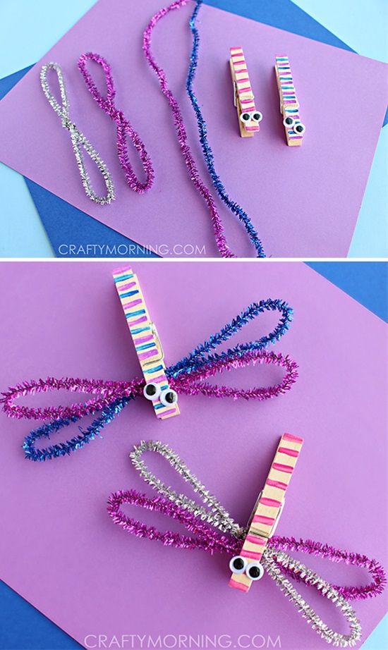 Make Clothespin Dragonflies