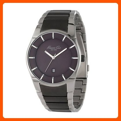 Kenneth Cole New York Men's KC9036 Slim Round Grey Ion-Plating Analog Watch - Mens world (*Amazon Partner-Link)