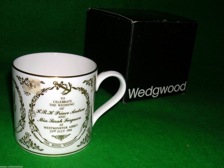Wedgwood BNIB PRINCE ANDREW Duke of York & SARAH FERGUSON WEDDING MUG by | eBay