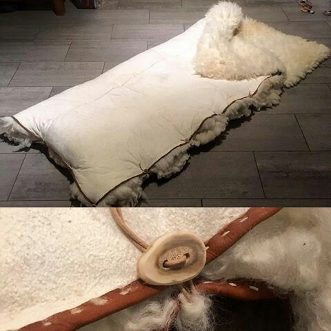 Viking bedding... It looks so cozy!! And expensive, but still