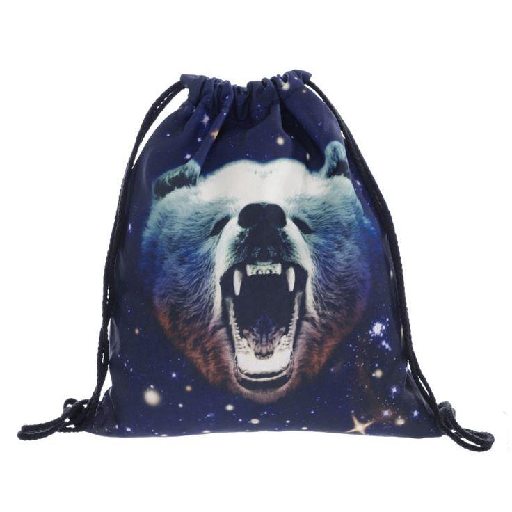 Galaxy Bear Draw String Bag £8 // Free UK Delivery  https://www.teeisland.co.uk/shop/galaxy-bear-draw-string-bag/