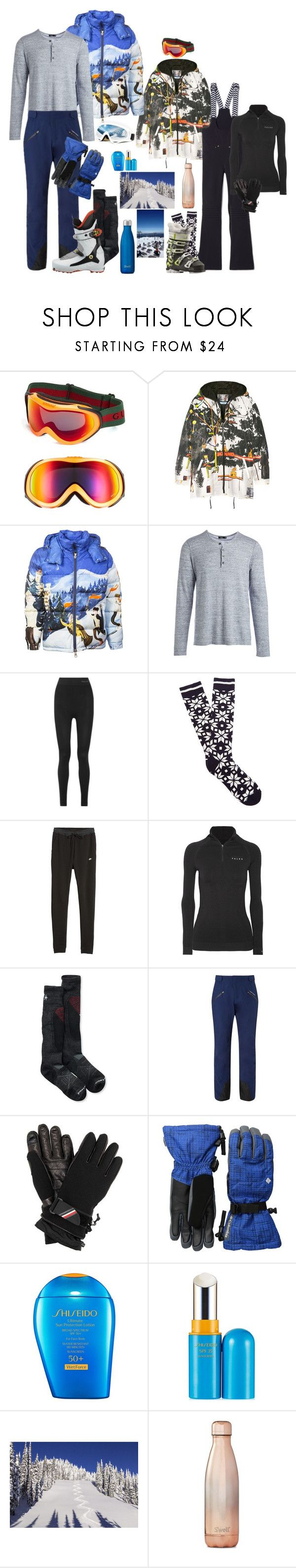"""Skiing trip 🎿⛷"" by fieldnotes ❤ liked on Polyvore featuring Gucci, Prada, Moncler, Vince, Falke, Fusalp, Isolá, NIKE, Smartwool and Rossignol"