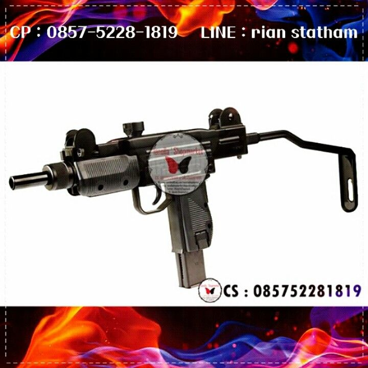 KWC Mini UZI CO2 Version  - System : Gas Blow Back - Hop-Up : Adjustable - Length : 360mm / 600mm - Velocity : 450fps - Built Material : Metal / ABS Plastic - Fire Mode : Semi / Full Auto - Power Source : CO2 - Use: 4,5mm bb - Package Include : Gun, Magazine, Manual, Loading Rod ,Box   ==> IDR : Rp 3.xxx.xxx,-   ⊙ Harga : Sms or Line  ⊙ minat? Sms : 0857-5228-1819 or Line : rian statham .. ⊙ Harga belum termasuk Ongkir. ⊙ FOR SERIOUS BUY ONLY !! ⊙ Transfer via : - BCA : a.n Olla - MANDIRI…