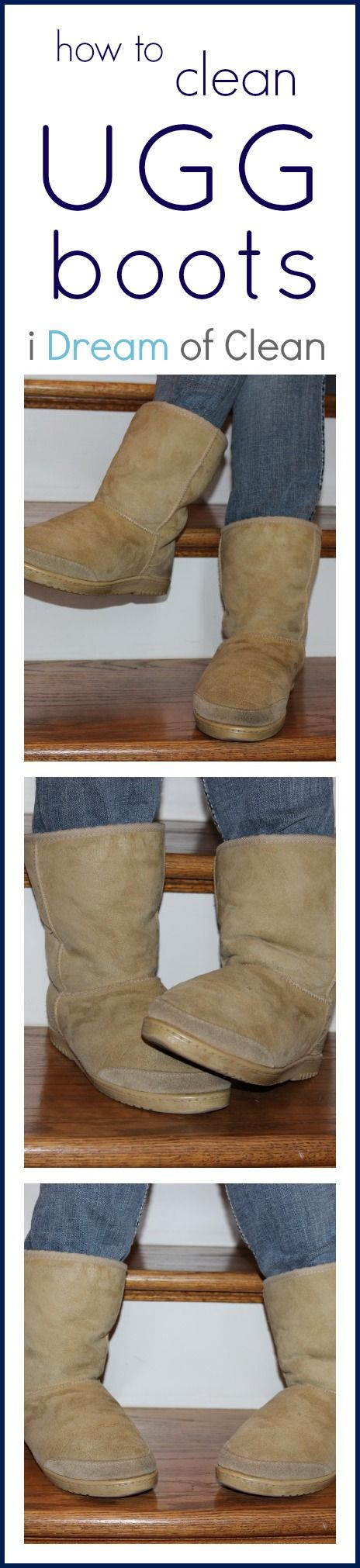 Ugg boots have become a very popular fashion essential over the past few years...BUT what happens when they get stained or dirty. These tips will help you clean and deodorize your precious Ugg boots! #fashion #ugg #clean