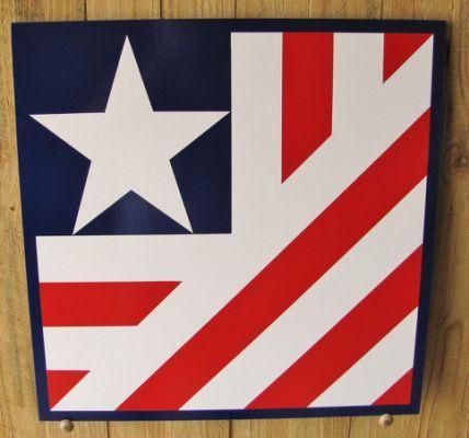 Custom Folded Flag Barn Quilt 2x2