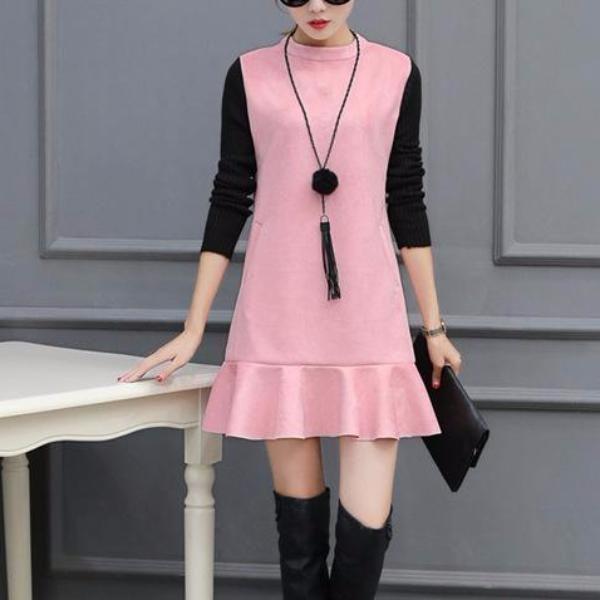 Classy Suede Dress