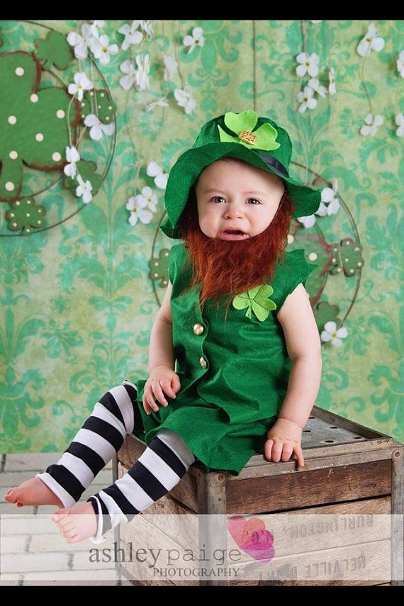 St Patricks Leprechaun Baby Toddler Outfit by MYSWEETCHICKAPEA, $65.00