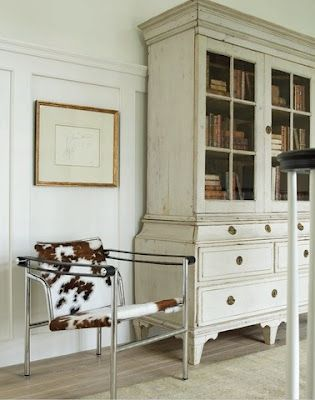 Modern Chair, Traditional Cabinet