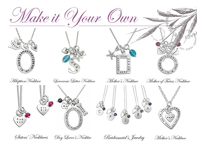 Personalized Jewelry - Sterling Silver & Gold