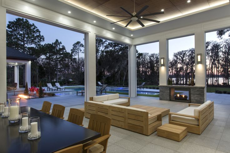 Enjoy a custom patio or Florida room to compliment your pool and lakefront home. Legacy Custom Built Homes can create your dream home.