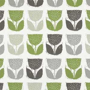 Poppy Pod Eucalyptus 100% Cotton 137cm 32cm Curtaining