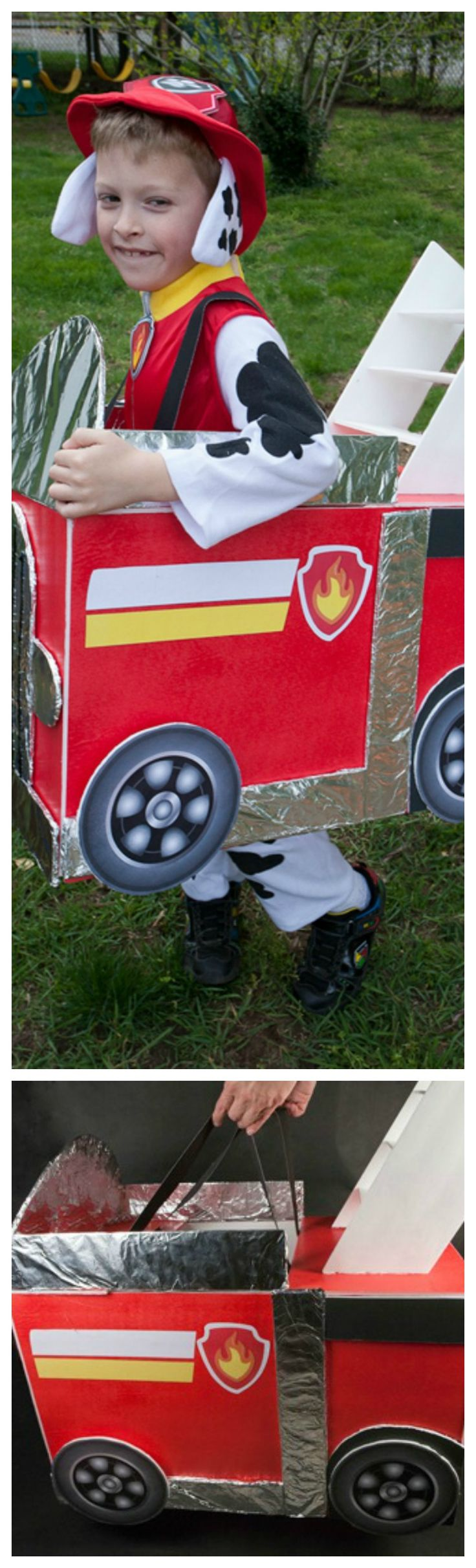 DIY Paw Patrol Firetruck Costume ~ Step by Step Instructions