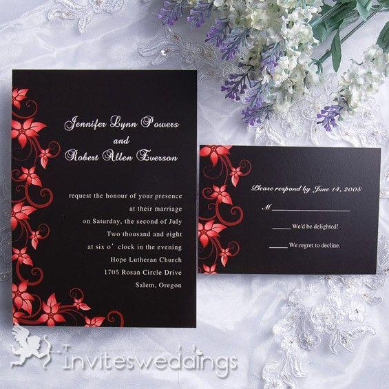 Blooming Passion Wedding Invitation IWI118 : Wedding Invitations Online,  InvitesWeddings.com