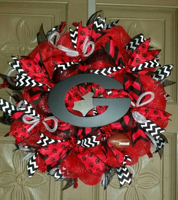University of Georgia Bulldogs deco mesh by AudrasSouthernFlair