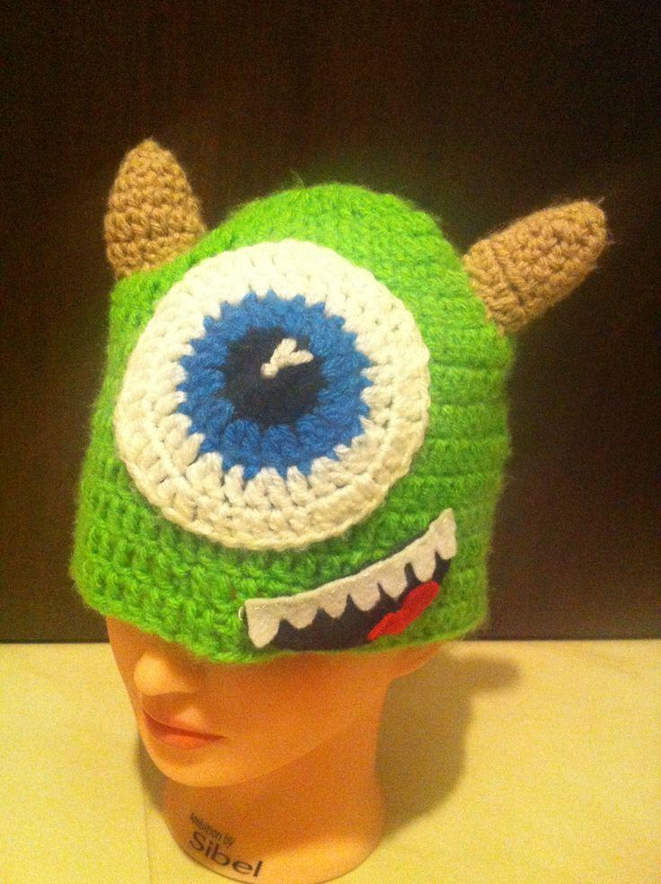 Mike wazowski crochet hat