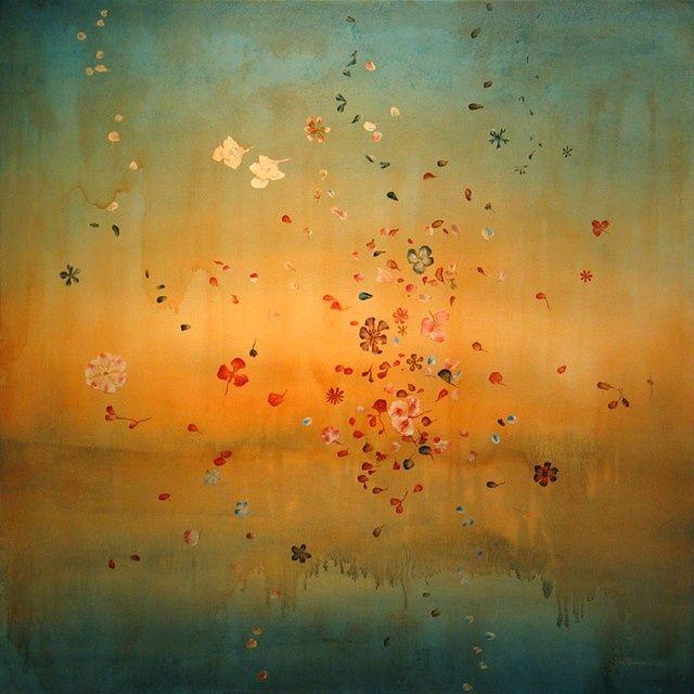 Aqua/Turquoise & Orange art