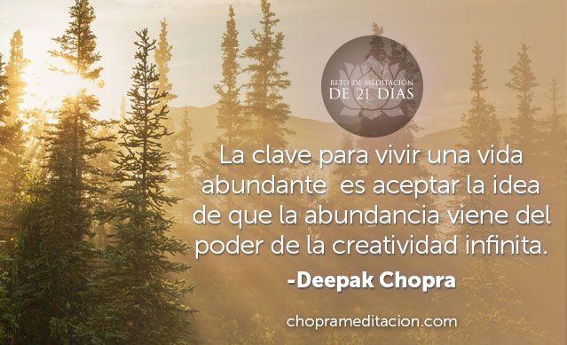 Únete a nosotros mientras meditamos juntos cada día en el nuevo Reto de meditación de 21 días, Creando abundancia. ¡Registrarte es fácil y GRATIS! http://bit.ly/1onqXNG