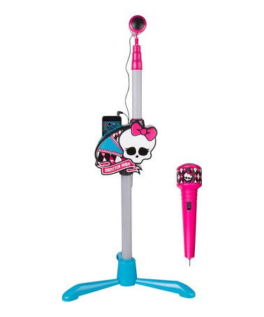 This Monster High™ Singing Microphone Stand Set by Monster High is perfect! #zulilyfinds