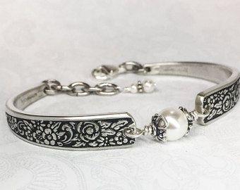 Joyas de plata cuchara pulsera turquesa africana platería