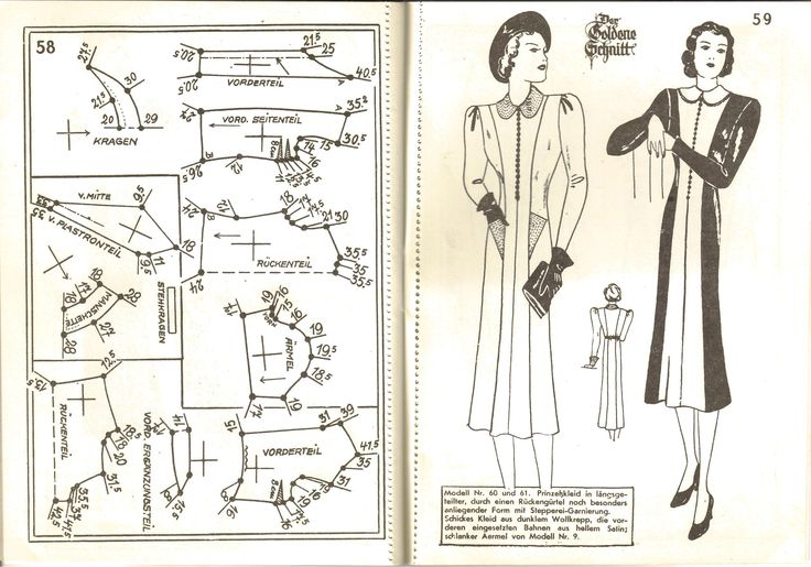 Lutterloh 1939 Book Of Cards - Models Diagram Card Page 58 & 59