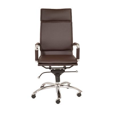 Eurostyle Gunar Pro High-Back Leatherette Office Chair with Arms | AllModern $350
